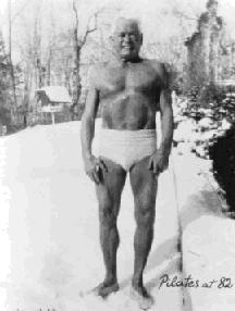 Joseph Pilates, aged 82